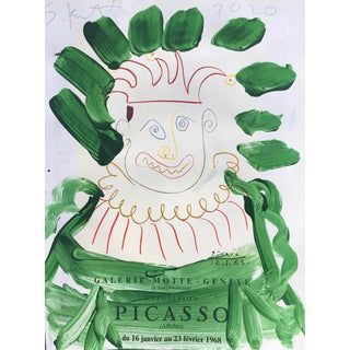'Green Aura' Framed Picasso Poster Painting by Sean Kratzert For Sale