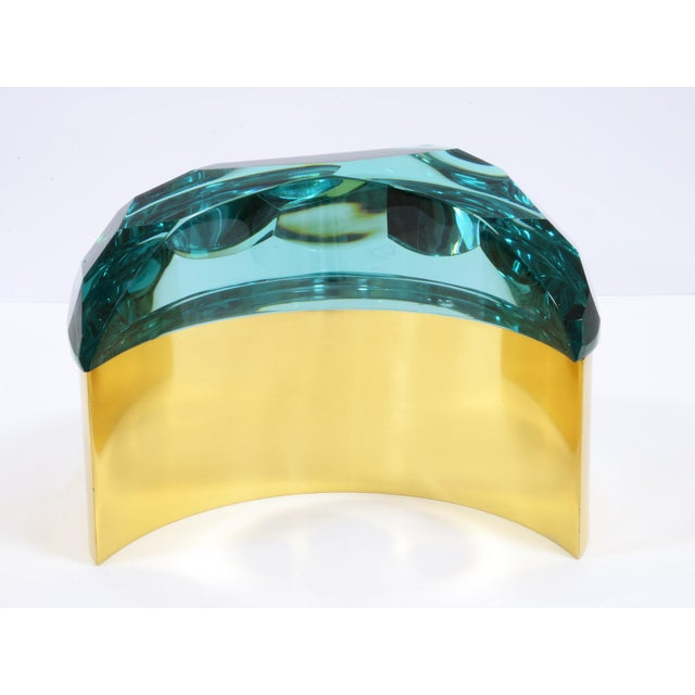 Roberto Giulio Rida Brass and Glass Box by Roberto Giulio Rida For Sale - Image 4 of 5