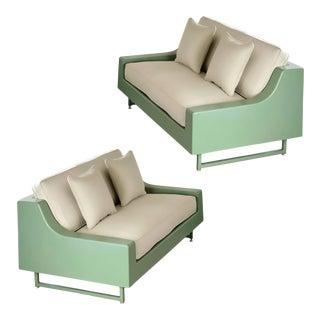 1960s Homecrest Sage Fiberglass Outdoor Sofas – a Pair For Sale