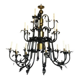 Grand Three-Tiered Chandelier For Sale