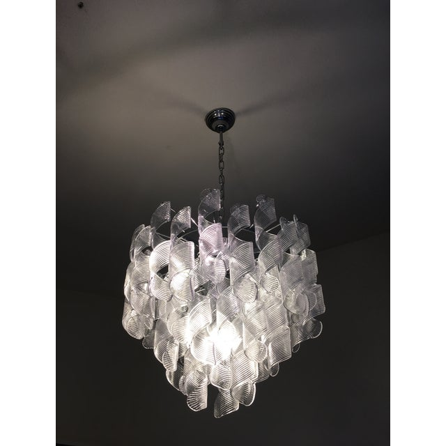 "Mazzega Style Murano Glass ""Spirale"" Sputnik Chandelier diameter 60 cm = 23.6"" height 50 cm = 19.7"" handmade murano glass..."