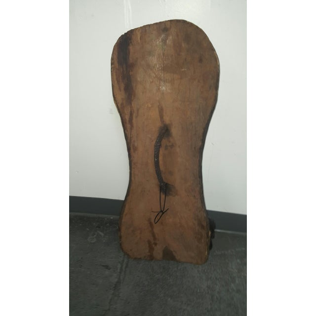 Hand Crafted African Wooden Shield - Image 6 of 9
