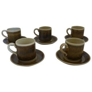Vintage Swedish Cups & Saucers - Set of 5