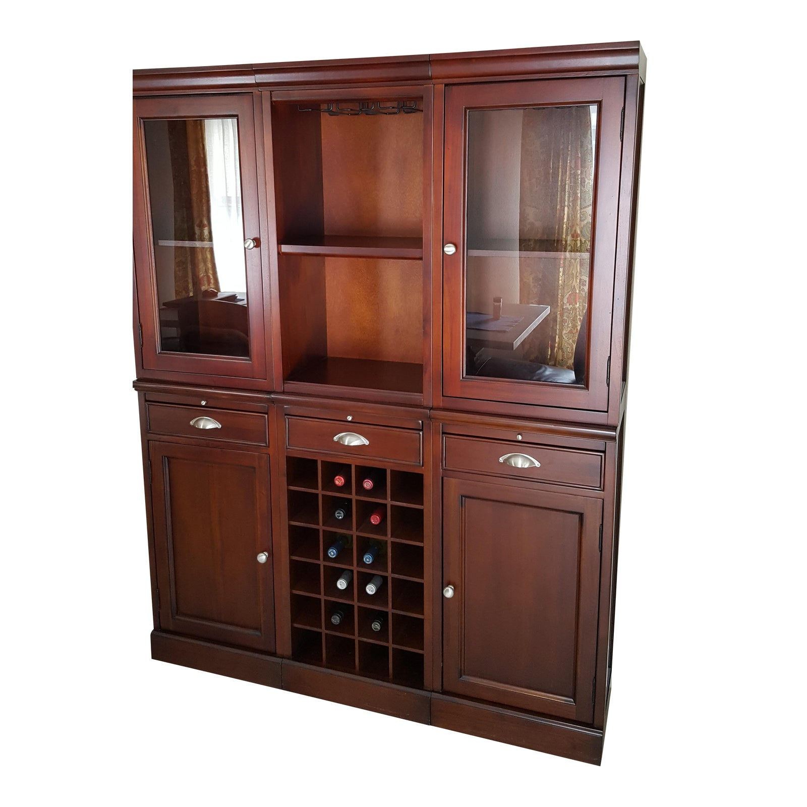 Pottery Barn Modular Bar Wall Unit Chairish