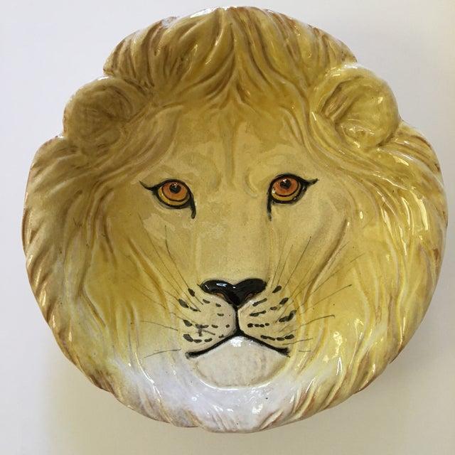 Italian Larger- Italian Mid-Century Modern Golden Lion Bowl For Sale - Image 3 of 13