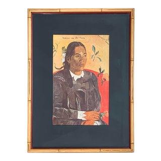 Vintage 1950s Framed Paul Gauguin Print, 'Vahine No Te Tiare' For Sale