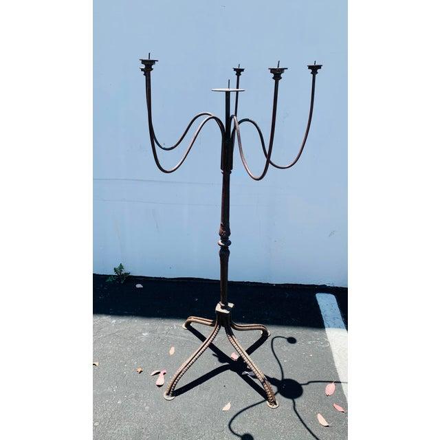 Huge Cast Iron Candelabra For Sale - Image 11 of 12