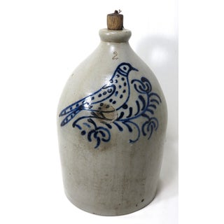 1870s Early American Blue Decorated Stoneware Jug Preview