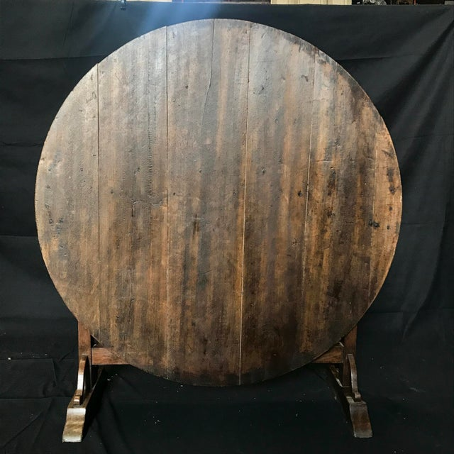 19th Century Large Antique French Wine Tasting Table For Sale - Image 4 of 5