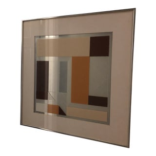 Vintage Greg Copeland Mirrored Op Art Wall Hanging For Sale