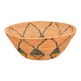 Antique Native American Basket Bowl For Sale
