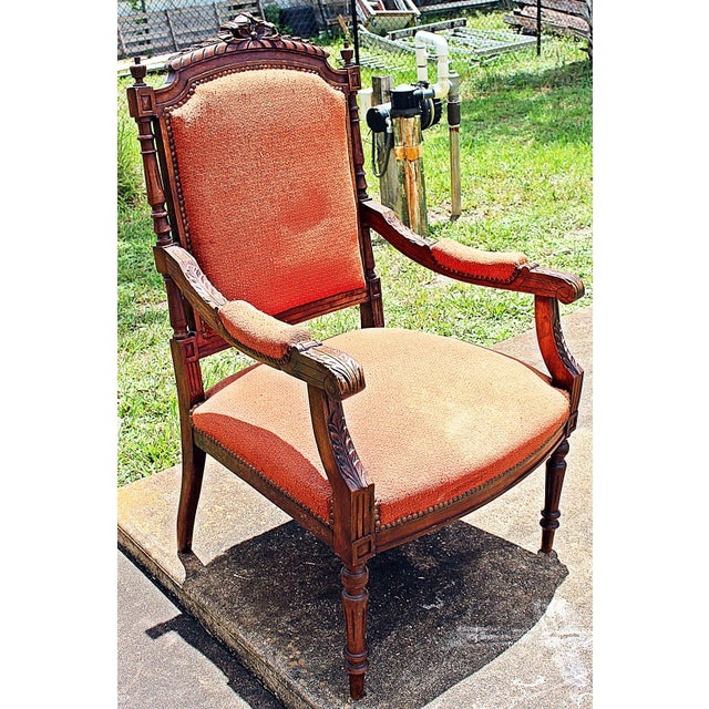 French Louis XVI Style Carved Fauteuil Armchairs- A Pair - Image 7 of 9