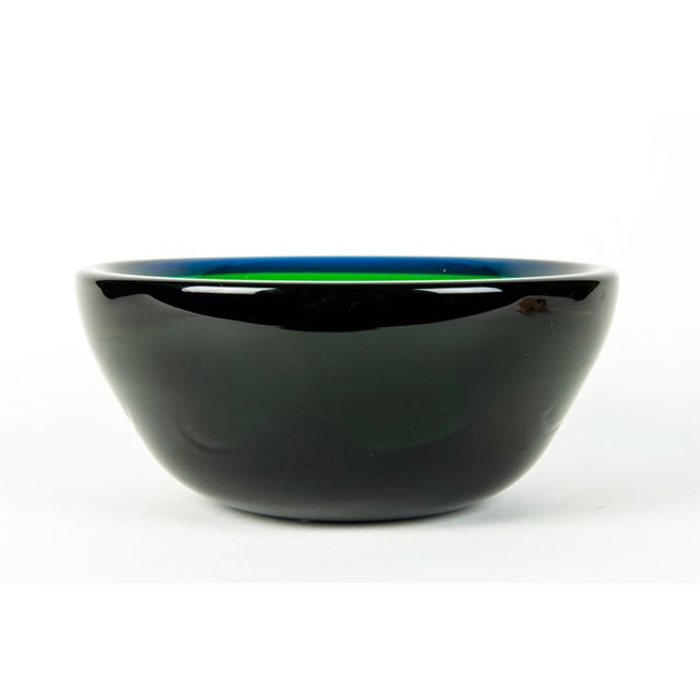 Mid Century Art Deco Style Murano Deco Bowl For Sale In New York - Image 6 of 7
