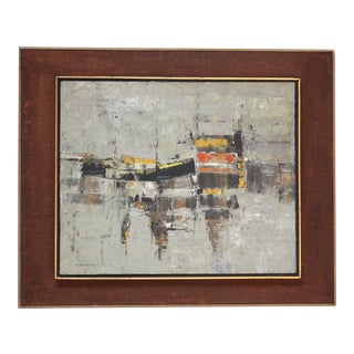 1960s Israeli Abstract Expressionist Painting by Efraim Modzelevich