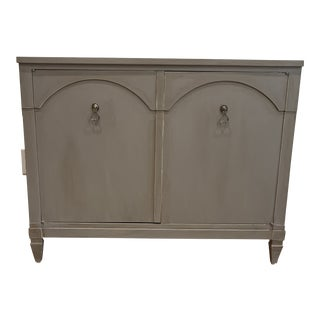 Shabby Chic Century Furniture Gray Credenza For Sale