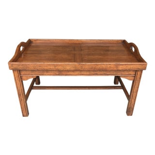Bausman and Company Maple Tray Coffee Table For Sale