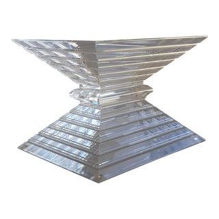 1970's Vintage Stacked Lucite Coffee Table Base by Ritts Co. For Sale