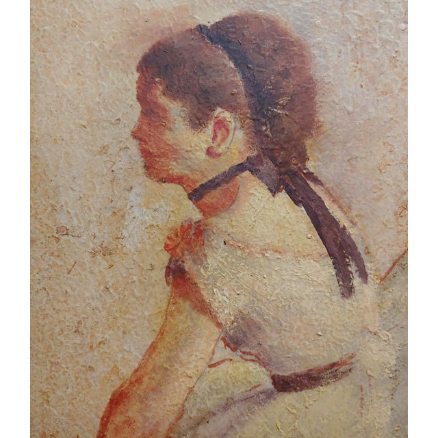 Female Dancer Stretching - Oil Painting For Sale - Image 4 of 9