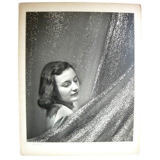 Large Format Frank J. Heller Original Signed Silver Gelatin Fashion Portrait For Sale
