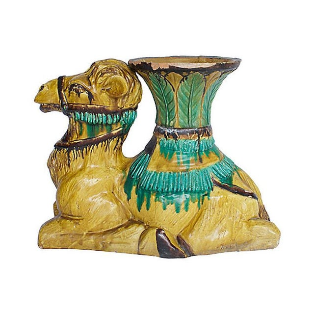 Terracotta Camel Planter For Sale - Image 4 of 13