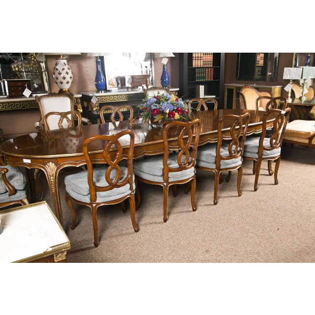 French Louis XV Style Oval Dining Table by Jansen - Image 2 of 8