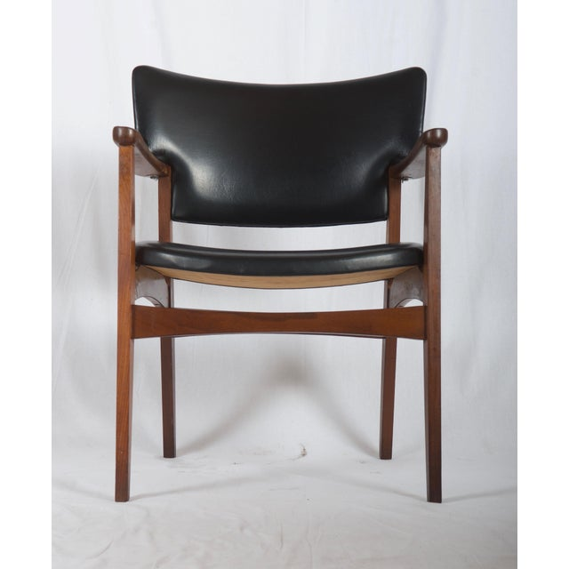 Mid-Century Modern Scandinavian Armchair Attributed to Erik Kirkegaard For Sale - Image 3 of 8