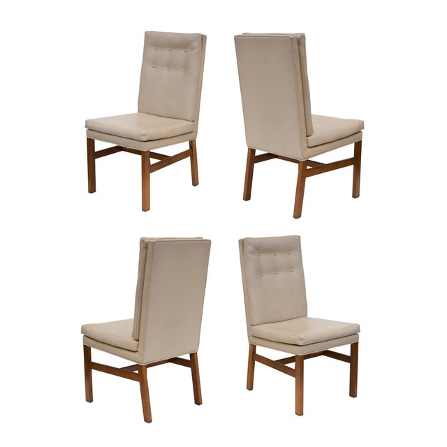 Johnson Furniture Tufted Dining Chairs - Set of 4 For Sale - Image 11 of 12