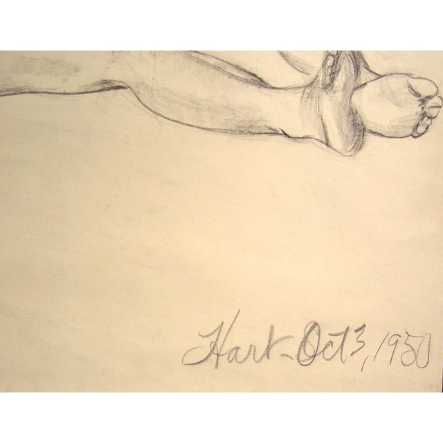 Figural Study in Charcoal, 1950 - Image 3 of 3