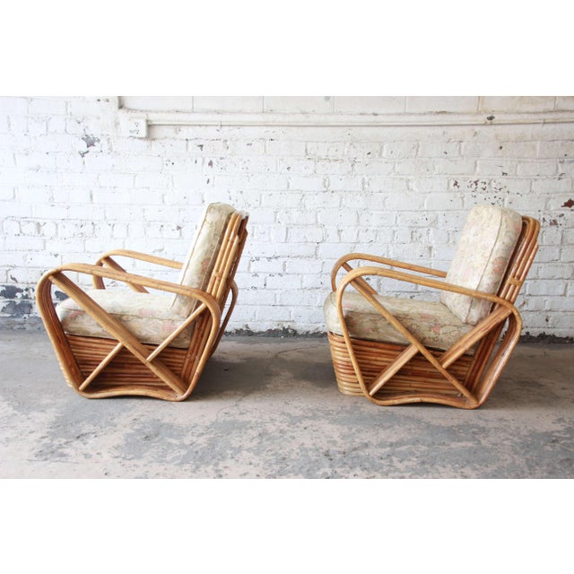 Brown Bamboo Pretzel Chairs Attributed to Paul Frankl - A Pair For Sale - Image 8 of 10