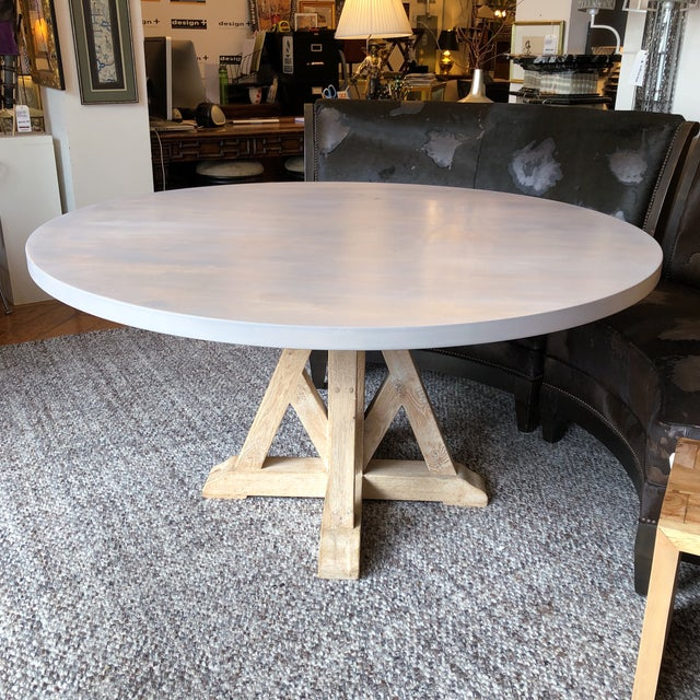 Contemporary Contemporary Round Pedestal Dining Table For Sale - Image 3 of 9