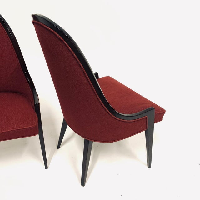 Stunning pair of Harvey Probber Model 1053 chairs. About Harvey Probber: A popular designer who had his heyday from the...