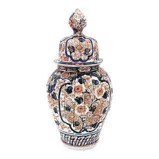 Antique Imari Japanese Porcelain Urn For Sale