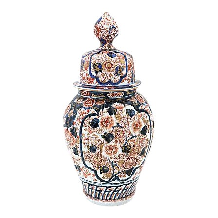 Antique Imari Japanese Porcelain Urn For Sale