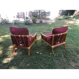 Mid-Century Modern McGuire Hollywood Regency Chairs- A Pair Preview