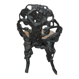 Antique Black Forest Chair For Sale
