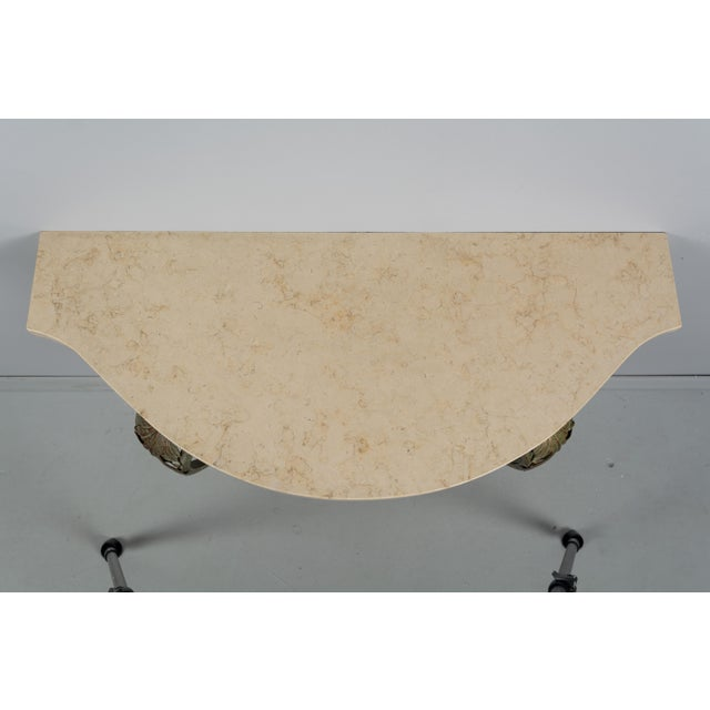 French Louis XV Style Iron Console For Sale In Orlando - Image 6 of 9