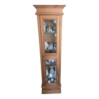 Pine Curio Cabinet For Sale