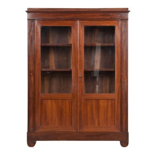 French 19th Century Restauration Mahogany Bibliothèque For Sale