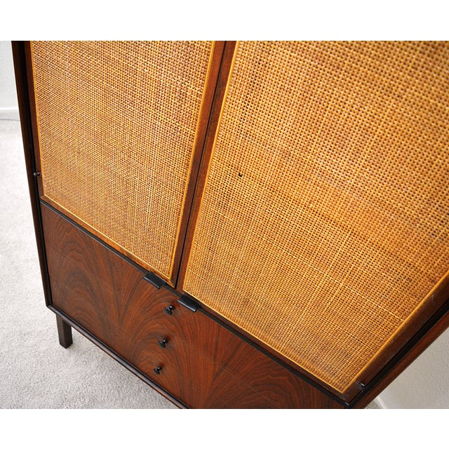 Founders Furniture Company Mid Century Jack Cartwright for Founder's Furniture Walnut Armoire For Sale - Image 4 of 13