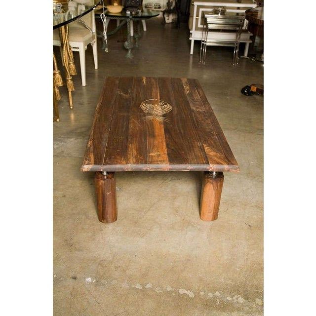 Brazilian Rosewood Indoor/Outdoor Coffee Table For Sale In Los Angeles - Image 6 of 9