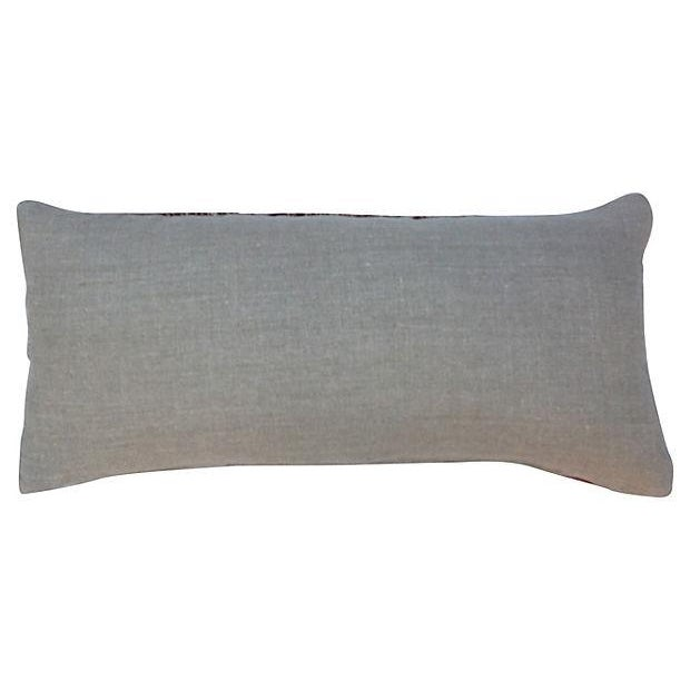 Striped Camel Sack Lumbar Pillows - A Pair - Image 3 of 5