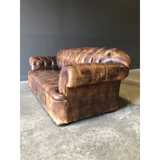Vintage Chestnut Colored George Smith Chesterfield Preview