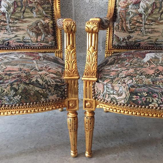 French Louis XVI Style Chairs - A Pair - Image 5 of 5