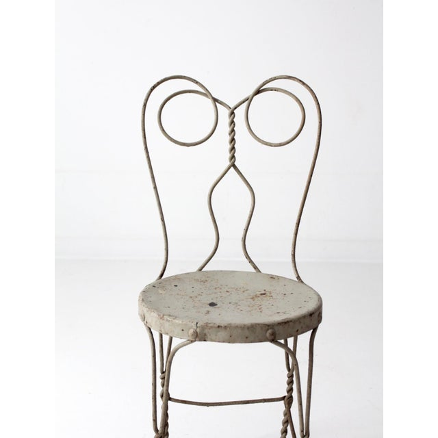 Vintage Ice Cream Parlor Chair For Sale - Image 6 of 9