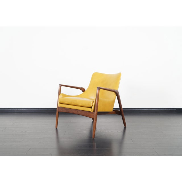 Danish Modern Leather Lounge Chairs by Ib Kofod Larsen For Sale - Image 9 of 13
