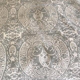 "Quadrille ""Veneto"" Grey Linen Fabric - 2 Yards"
