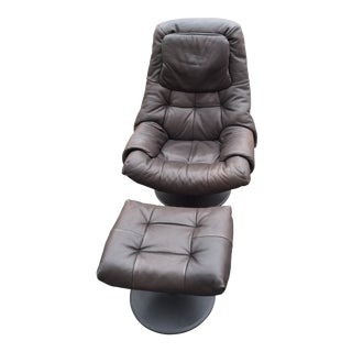 Ekornes Stressless Chair With Ottoman Tulip Base