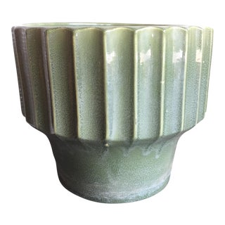 Large Tall Green Bauer Biltmore Planter