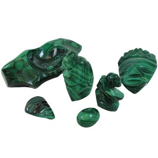 Collection of Malachite Objects