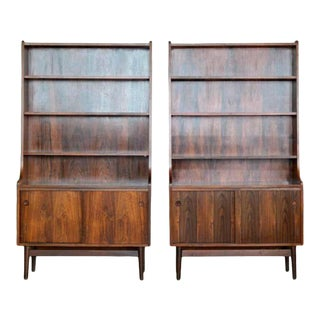 1960s Danish Modern Midcentury Pair of Bookcases in Rosewood by Johannes Sorth For Sale